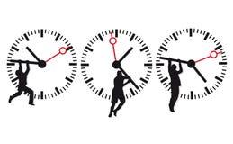 Icônes de visage et de temps d'horloge Photographie stock libre de droits