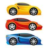 Icônes de voiture sur le blanc Photo stock