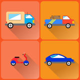 Icônes de voitures Photo libre de droits