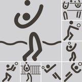 Icônes de Volleiball Images libres de droits