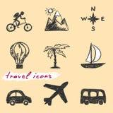 Icônes de voyage illustration de vecteur