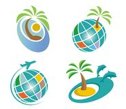 Icônes de voyage Images stock