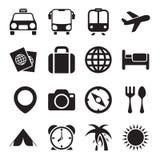 Icônes de voyage Photos libres de droits