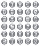 Icônes de Web Image stock