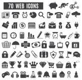 Icônes de Web Photographie stock