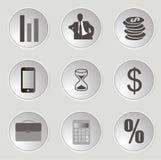 Icônes de Web d'affaires Photo stock