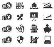 Icônes de Web d'affaires et de finances Image libre de droits