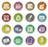Icônes de Web d'affaires et de finances Photographie stock libre de droits