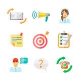 Icônes de Web de rétroaction réglées Photo libre de droits