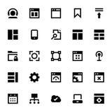 Icônes 3 de web design et de vecteur de développement Photos stock