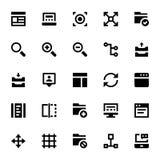 Icônes 4 de web design et de vecteur de développement Photo libre de droits