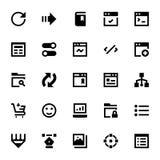 Icônes 6 de web design et de vecteur de développement Photo libre de droits