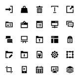 Icônes 8 de web design et de vecteur de développement Images libres de droits