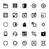 Icônes 9 de web design et de vecteur de développement Photo stock