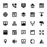 Icônes 1 de web design et de vecteur de développement Images stock