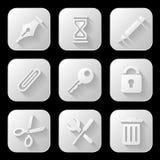 Icônes de Web réglées Image stock