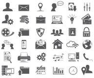 Icônes de Web réglées Photo stock