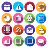 Icônes de Web réglées dans la conception plate Photo stock