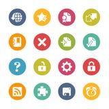 Icônes de Web -- Série fraîche de couleurs Image stock