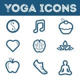 Icônes de yoga Photographie stock