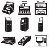 Icônes des dispositifs pour l'argent Illustration Libre de Droits