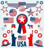 Icônes des Etats-Unis Photos stock