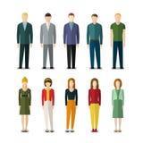 Icônes des hommes d'affaires et des femmes d'affaires illustration stock