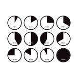 Icônes des intervalles Vecteur sur le blanc Photographie stock