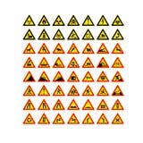 Icônes des panneaux routiers Images libres de droits