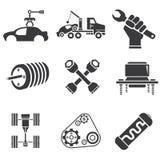Icônes des véhicules à moteur Photographie stock libre de droits