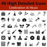 Icônes douces de célébration et de musique illustration libre de droits