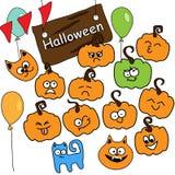 Icônes drôles Halloween de vecteur Photographie stock libre de droits