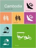 Icônes du Cambodge illustration libre de droits