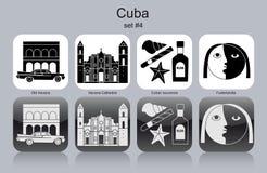 Icônes du Cuba illustration de vecteur