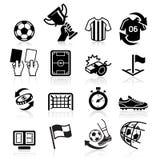 Icônes du football illustration de vecteur