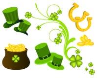 Icônes du jour de St Patrick Images libres de droits