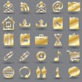 icônes du media 3d Image stock