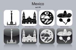 Icônes du Mexique Image stock