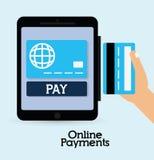 Icônes en ligne de paiements Photos libres de droits