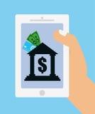 Icônes en ligne de paiements Image stock