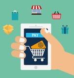 Icônes en ligne de paiements Photos stock