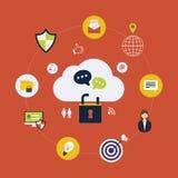 Icônes en ligne de sécurité illustration libre de droits