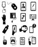 Icônes en ligne de service médical de soins de santé réglées illustration libre de droits
