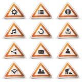 Icônes et boutons de panneau routier pour le jeu d'Ui illustration de vecteur