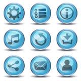 Icônes et boutons pour le jeu d'Ui illustration stock