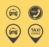 Icônes et indicateurs de taxi Images stock