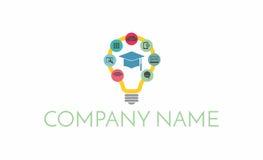 Icônes et logo d'ampoule Image stock
