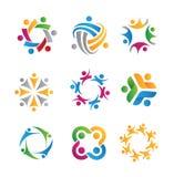 Icônes et logos sociaux Photos libres de droits