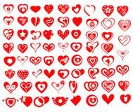 Icônes et symboles de coeur de vecteur Photos libres de droits