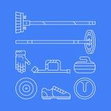Icônes et symboles principaux de bordage de sport Photographie stock
